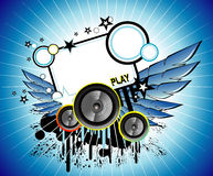 Disco Music background Royalty Free Stock Image