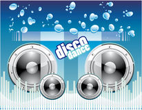 Disco Music Background Stock Images