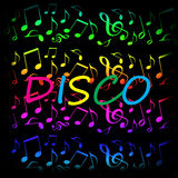 Disco music background Royalty Free Stock Photography