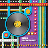Disco music background Stock Photo