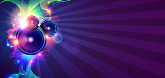 Disco Music Background With Sound Waves Stock Photo