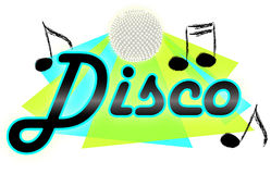 Disco music/eps Stock Photography