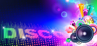 Disco Music Flyer With Lights Royalty Free Stock Images