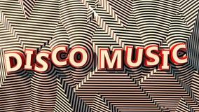 Disco Music logo on stripes Stock Photos