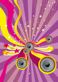 Disco Music Party Flyer royalty free stock photography