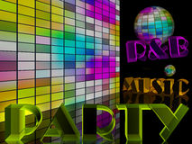 Disco music party. Disco music night  party concept Stock Images