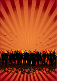 Disco Music Party People Flyer stock photography