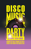 Disco Music party poster Royalty Free Stock Photography