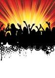 Disco-Musik-Party-Flugblatt-Tanzen-Leute Vektor Abbildung