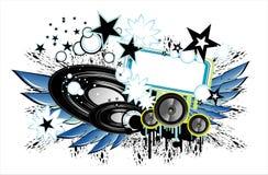 Disco-Musikhintergrund Stockbilder