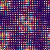 Disco naadloos patroon van halftone punten in retro Stock Afbeeldingen