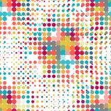 Disco naadloos patroon van halftone punten in retro Stock Fotografie