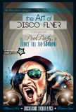 Disco-Nachtclub-Fliegerplan mit DJ-Form Stockfotografie