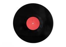 Disco negro del vinilo contra el fondo blanco Imágenes de archivo libres de regalías