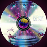 Disco neon  abstract background. Record or disk Stock Image