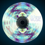 Disco neon abstract background. Record or disk Royalty Free Stock Photos
