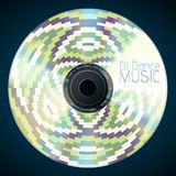 Disco neon abstract background. Record or disk Stock Photo