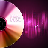 Disco neon  abstract background. Record or disk Royalty Free Stock Photo
