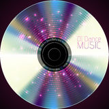 Disco neon abstract background. Record or disk Royalty Free Stock Image