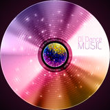 Disco neon abstract background. Record or disk Stock Photography