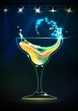 Disco neon Cocktail background Stock Photo