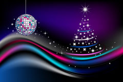 Disco new year celebration. The image probably to use as flayer or the invitation to party Royalty Free Stock Photos