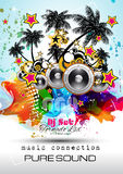 Disco Night Club Flyer layout with Speaker shape Royalty Free Stock Photos