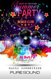 Disco Night Club Flyer layout with Speaker shape Royalty Free Stock Images