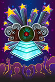 Disco night flyer. A vector illustration of disco night flyer design Royalty Free Stock Photography