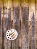 Disco oxidado com furos Fotografia de Stock Royalty Free