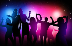 Disco party. Glamour disco party in the night club vector illustration