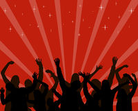 Disco - party. Vector illustration of dancing people Royalty Free Stock Photography
