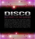 Disco-Party-Auslegung Lizenzfreie Stockfotos