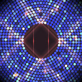 Disco party background. Ball, nightclub and nightlife, bright and shine sphere, vector Stock Photography