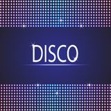 Disco party background. Space for your text Stock Image