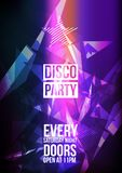 Disco Party Background - Vector Illustration. Disco Party Background Template - Vector Illustration Royalty Free Stock Photo