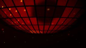 Disco party background wirh disco shining and reflecting balls stock video