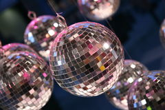 Disco party balls. Disco glitter balls at a party Stock Images