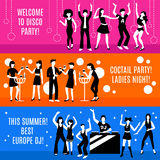 Disco Party Banners Set Stock Photo