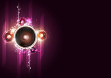Disco Party Bright Background Stock Photo