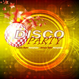 Disco party colored flyer background, illustration Royalty Free Stock Photo