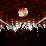 Disco Party Crowd Stock Photo