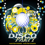 Disco party dark  background, illustration Royalty Free Stock Photos