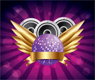 Disco party design,vector Stock Image