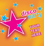 Disco party flayer. Vector. Royalty Free Stock Images