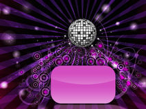 Disco party flyer Royalty Free Stock Image