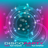Disco party flyer background, illustration Royalty Free Stock Photos