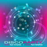 Disco party flyer background, illustration Royalty Free Stock Photos