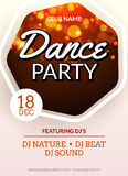 Disco party flyer design. Dance banner for music club. Celebration abstract template  Royalty Free Stock Photos