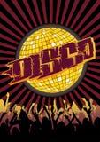 Disco Party Flyer Graffiti Stock Photo
